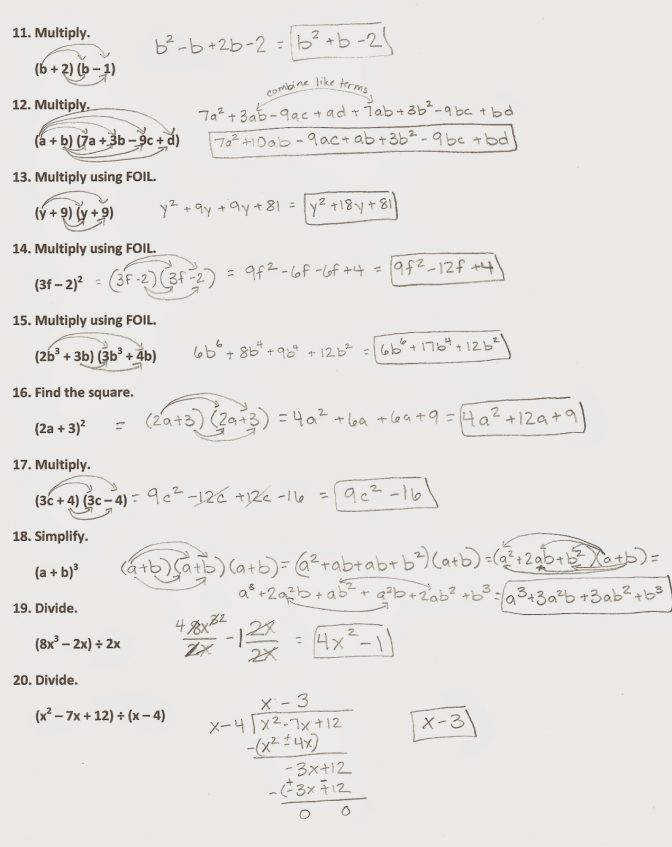Algebra 1 Review Worksheets Images - worksheet for kids in english