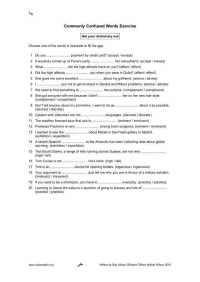 Commonly Confused Words Worksheet | Homeschooldressage.com
