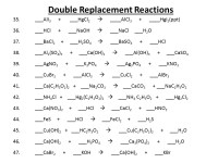 Double Replacement Reaction Worksheet