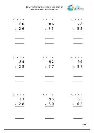 Long Multiplication Worksheets Homeschooldressage