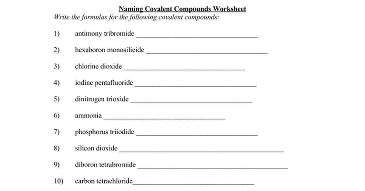 Properties Of Ionic Compounds Worksheet Properties Of