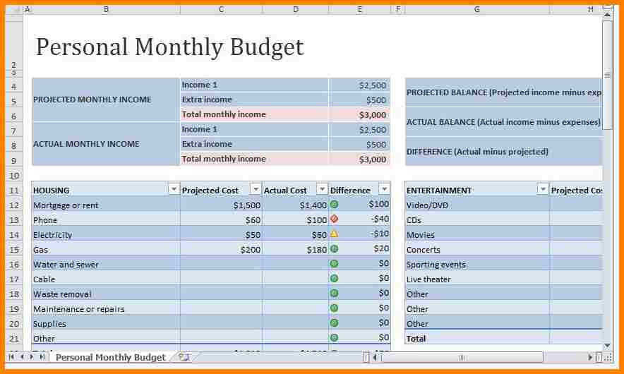 personal budget plan template free 9 personal bud spreadsheet free