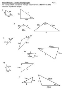 Similar Triangles Worksheet | Homeschooldressage.com
