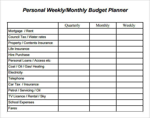 Weekly Budget Worksheet Homeschooldressage - sample weekly budget