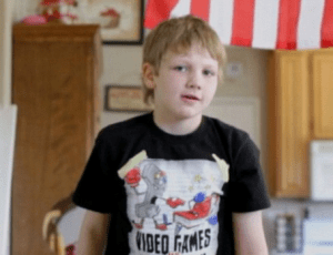 In May 2011, 10-year-old Joseph Hall shot his father Jeffrey at point blank range with his father's own gun.