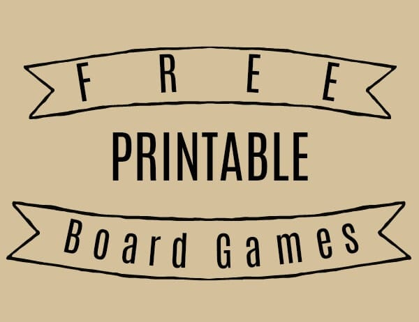 Free Printable Board Games for Education, Fun, or Any Occassion!