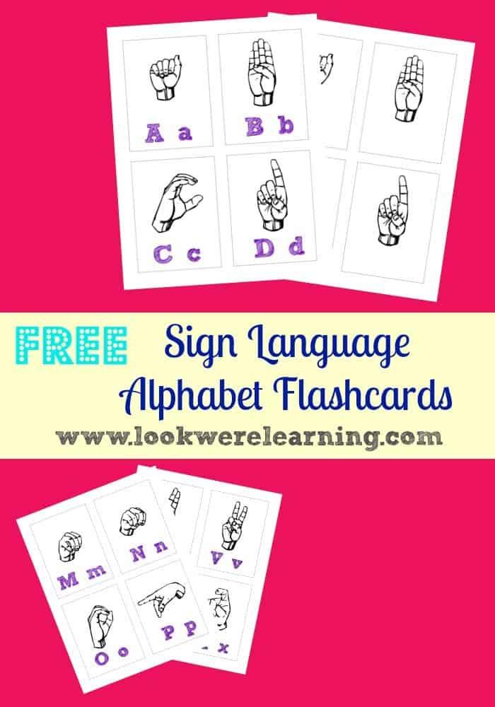 Free Printable Sign Language Alphabet Flashcards