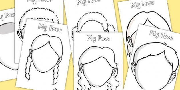 FREE Blank Faces Templates - Homeschool Giveaways