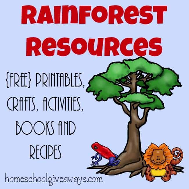 Rainforest Resources ~ Printables, activities, recipes  MORE