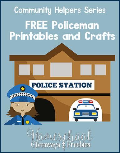Community Helper Series FREE Policeman Printables and Crafts