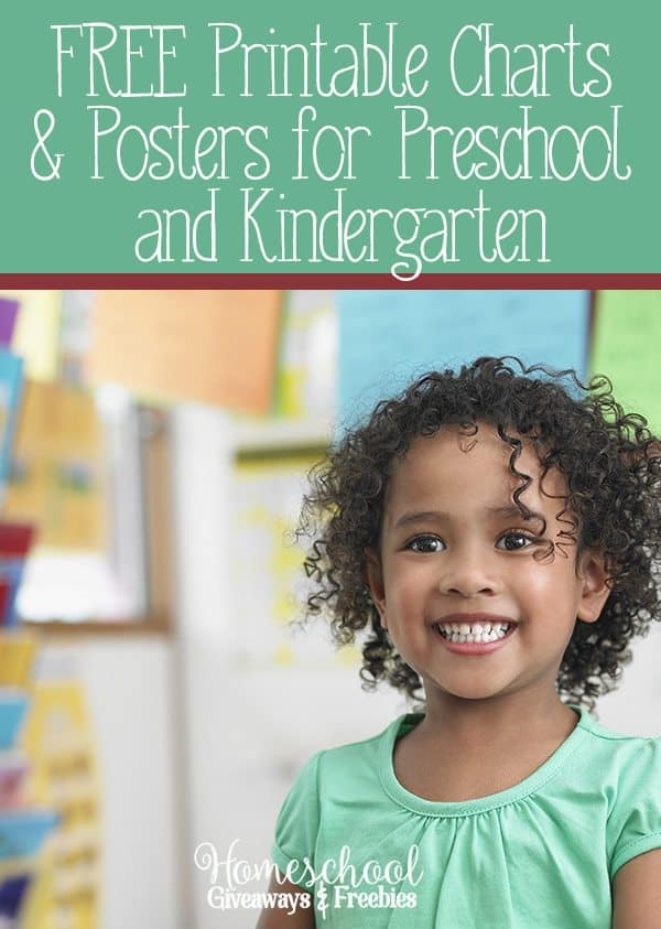 FREE Printable Charts and Posters for Preschool and Kindergarten