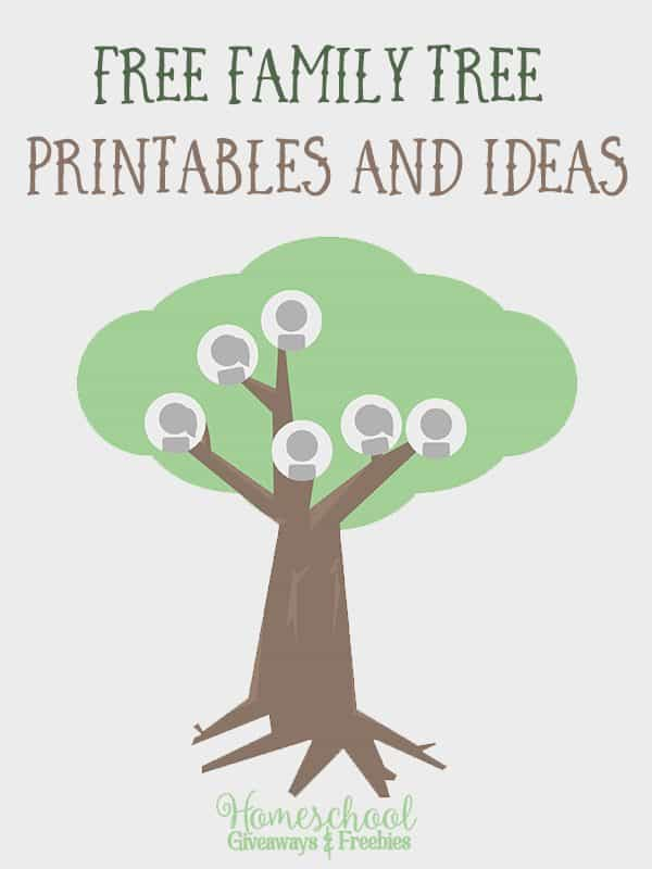 FREE Family Tree Printables and Ideas