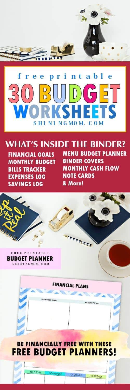 The Ultimate 2018 FREE Printable Budget Binder - free printable budget planner