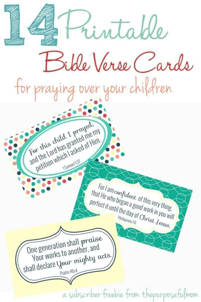 14 Bible Verses to Pray Over Your Children (FREE Printable Bible