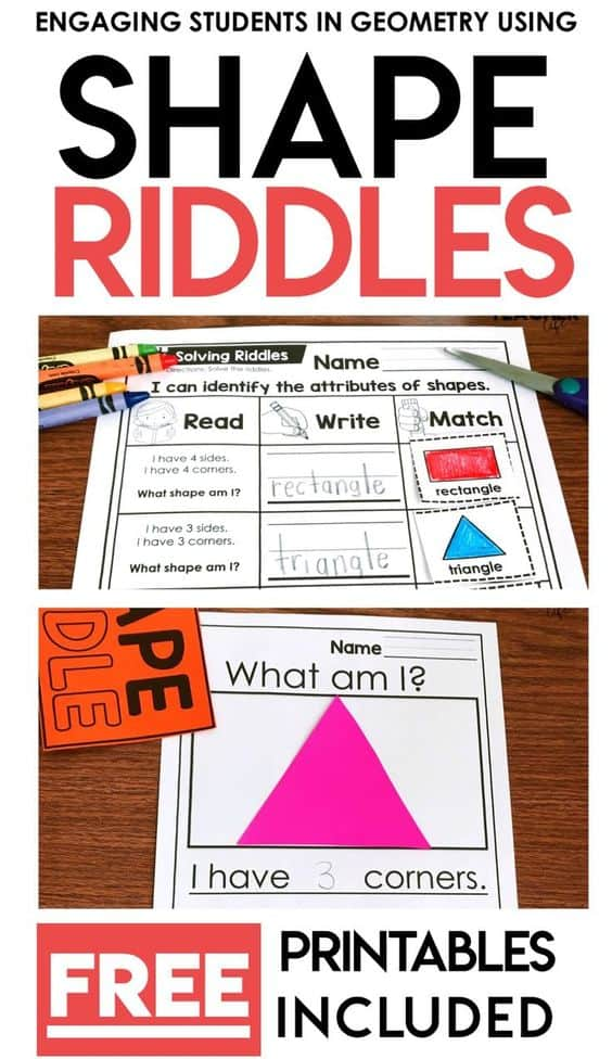 FREE Printable 2D and 3D Shape Riddles - Homeschool Giveaways