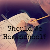 Should We Homeschool? Reasons to Homeschool.