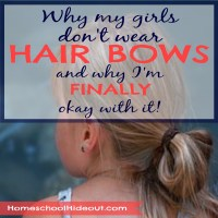 Why My Girls Don't Wear Hair Bows
