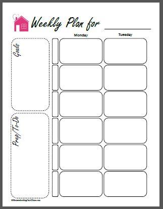 Free Printable Homeschool Planner Pages - free printable weekly planner