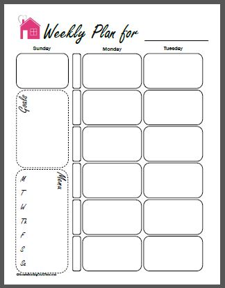 Free Printable Homeschool Planner Pages - printable assignment sheet