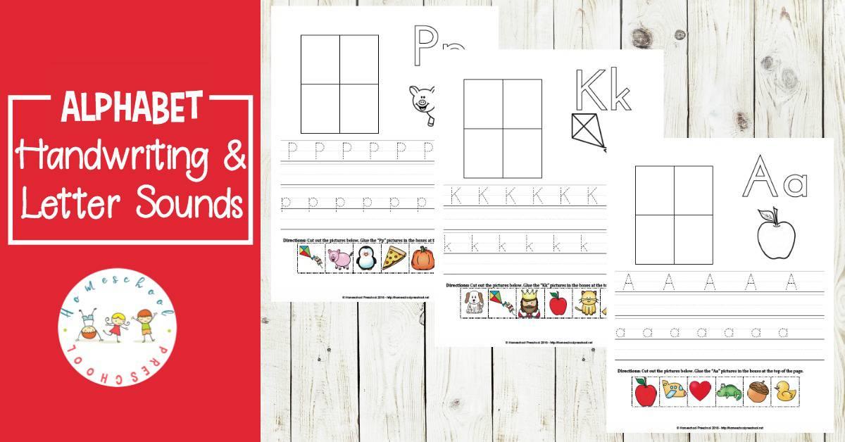 Printable Alphabet Preschool Handwriting Practice Pages - practice alphabet writing