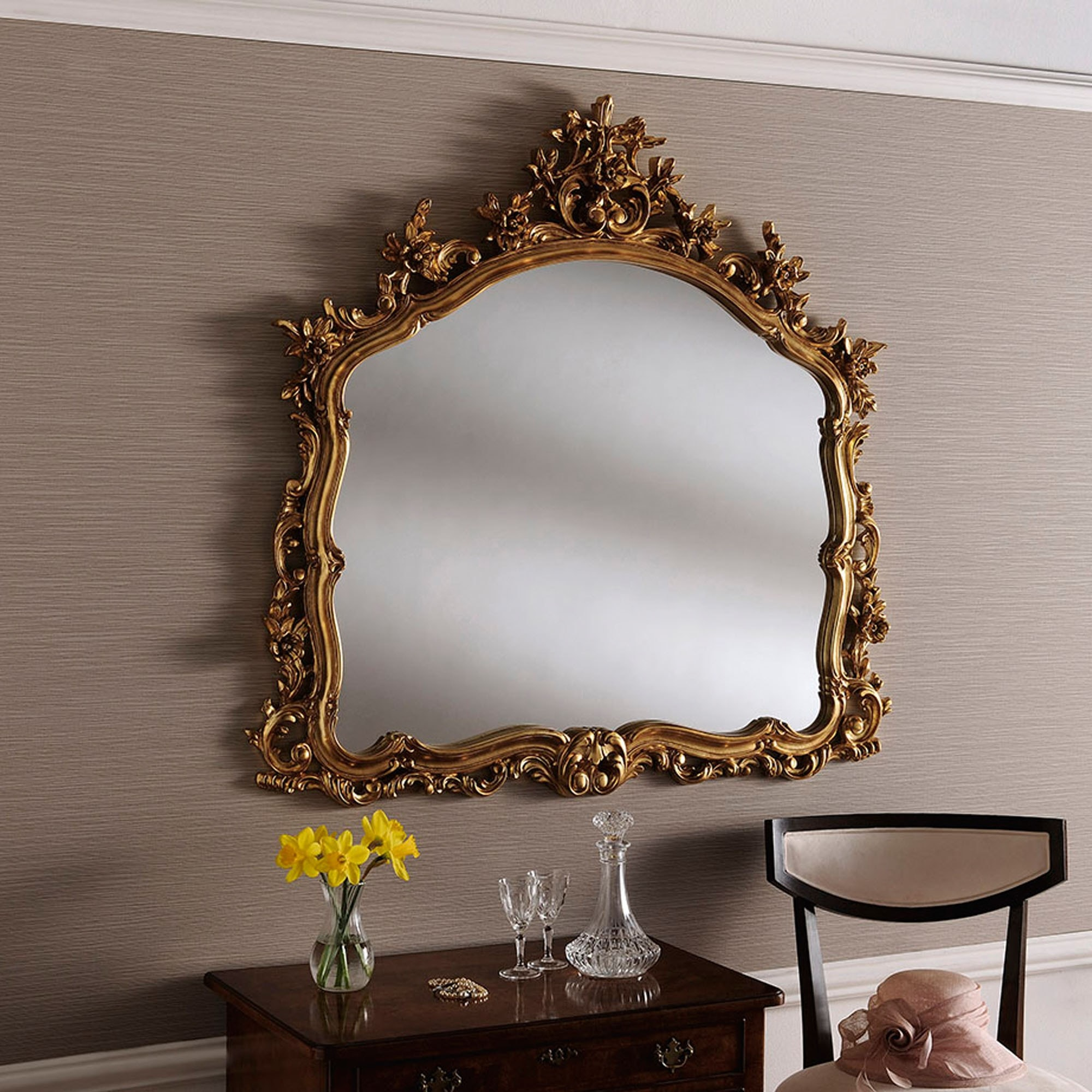 Large Mirrors With Gold Frames Decorative Gold Ornate Wall Mirror Decorative Gold Mirror