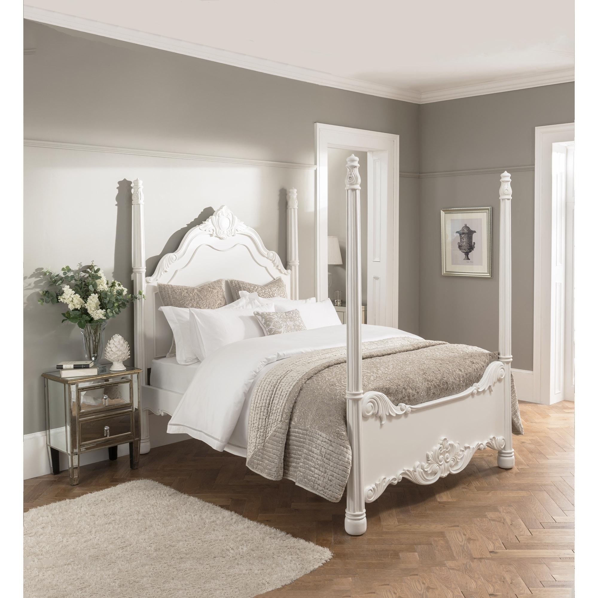 Bedroom Furniture Online Four Poster Antique French Style Bed