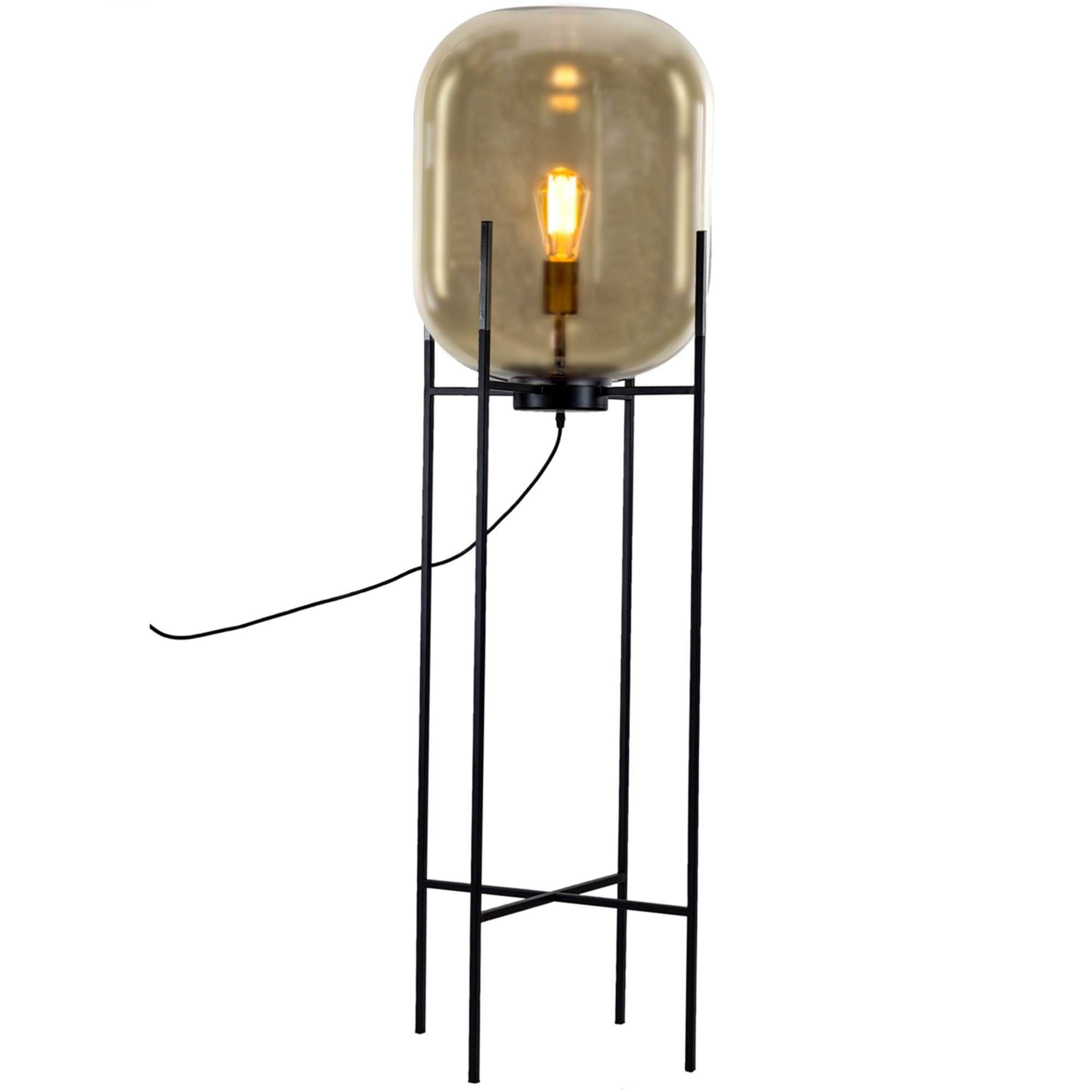 Glass Edison Lamp Large Gold Glass Edison Floor Lamp