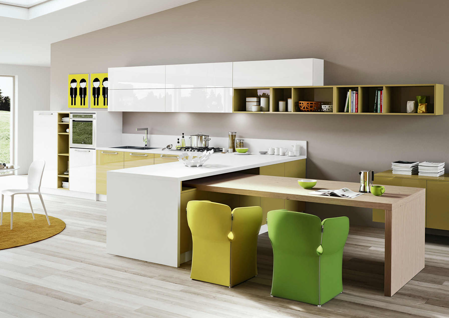 Light Yellow Kitchen How To Sprinkle Your Kitchen With Colors Homesfeed