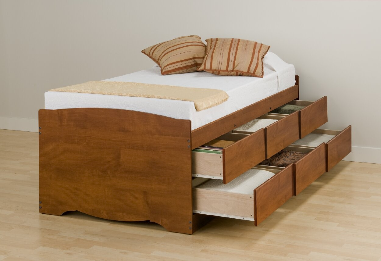 Elevated Beds With Storage Elevated Platform Bed Create Different Visual Interest To