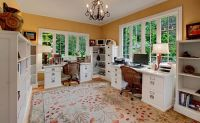 Designing Your Home Office With Professional White Accent ...