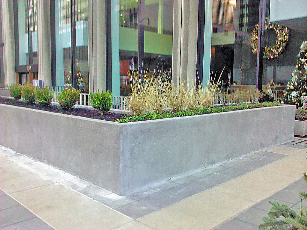 Concrete Garden Planters Concrete Planter Box Designs Homesfeed