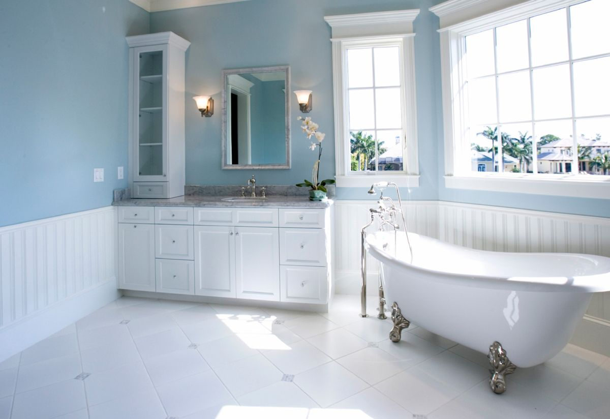 Blue Bathrooms Pictures Choosing The Right Bathroom Color Scheme To Show Your