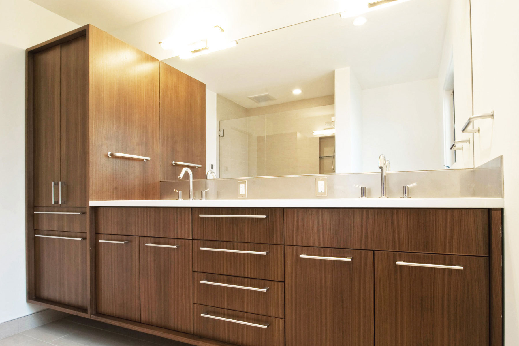Modern Vanities For Bathrooms Create Contemporary Look With Mid Century Modern Bathroom