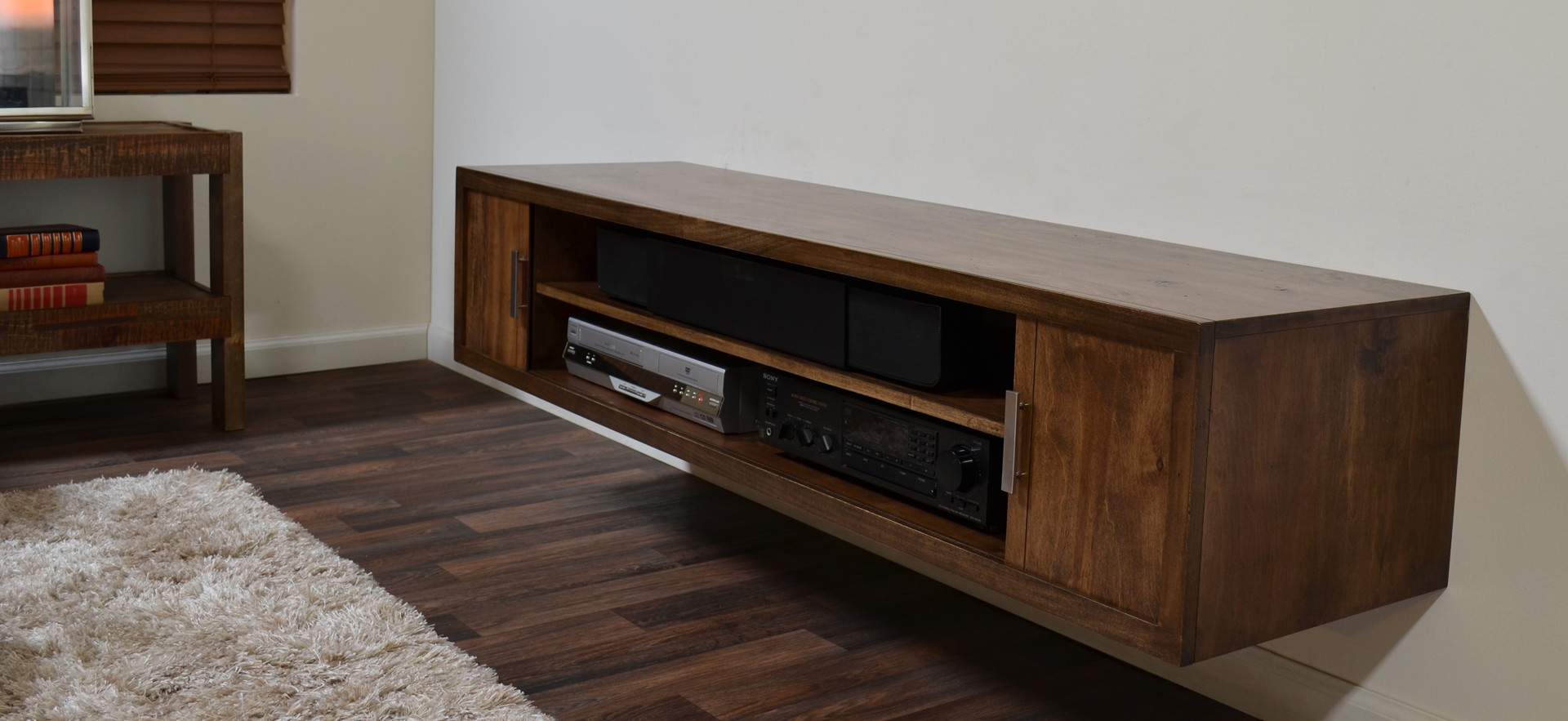 Hanging Media Console Floating Media Console A Way To Display Your Tv With
