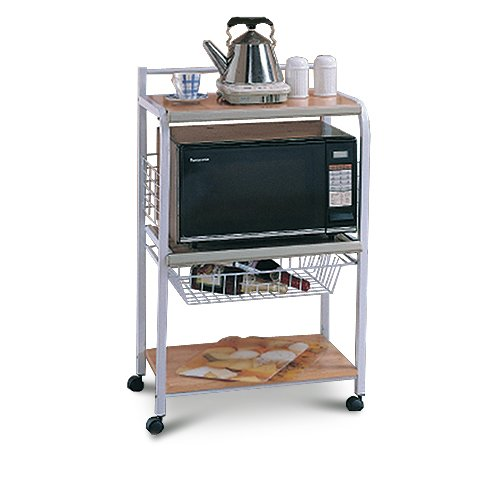 Microwave Stand With Storage Selecting Your Favorite Microwave Cart Design   HomesFeed