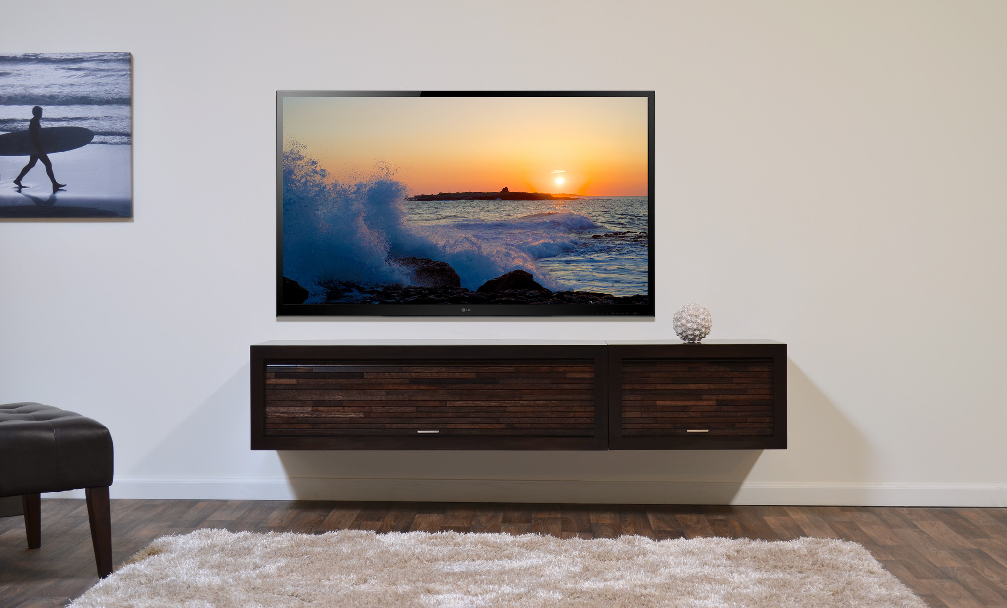 Floating Tv Stand Floating Media Console: A Way To Display Your Tv With