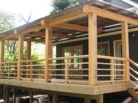 Horizontal Deck Railing Embraces Every Outdoor Living with