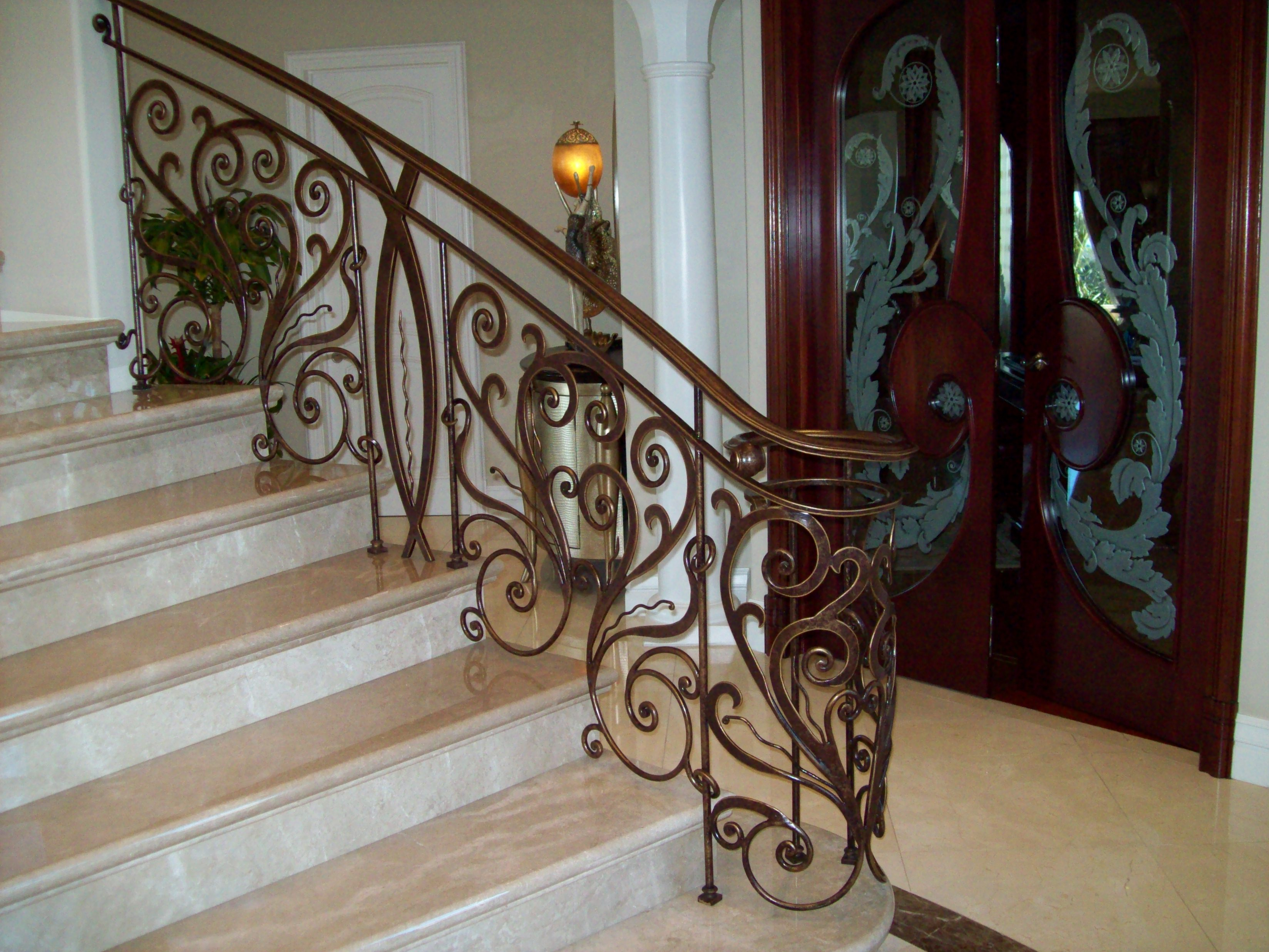 Wrought Iron Staircase Designs Rod Iron Railing Adds Perfection To Every Step Of