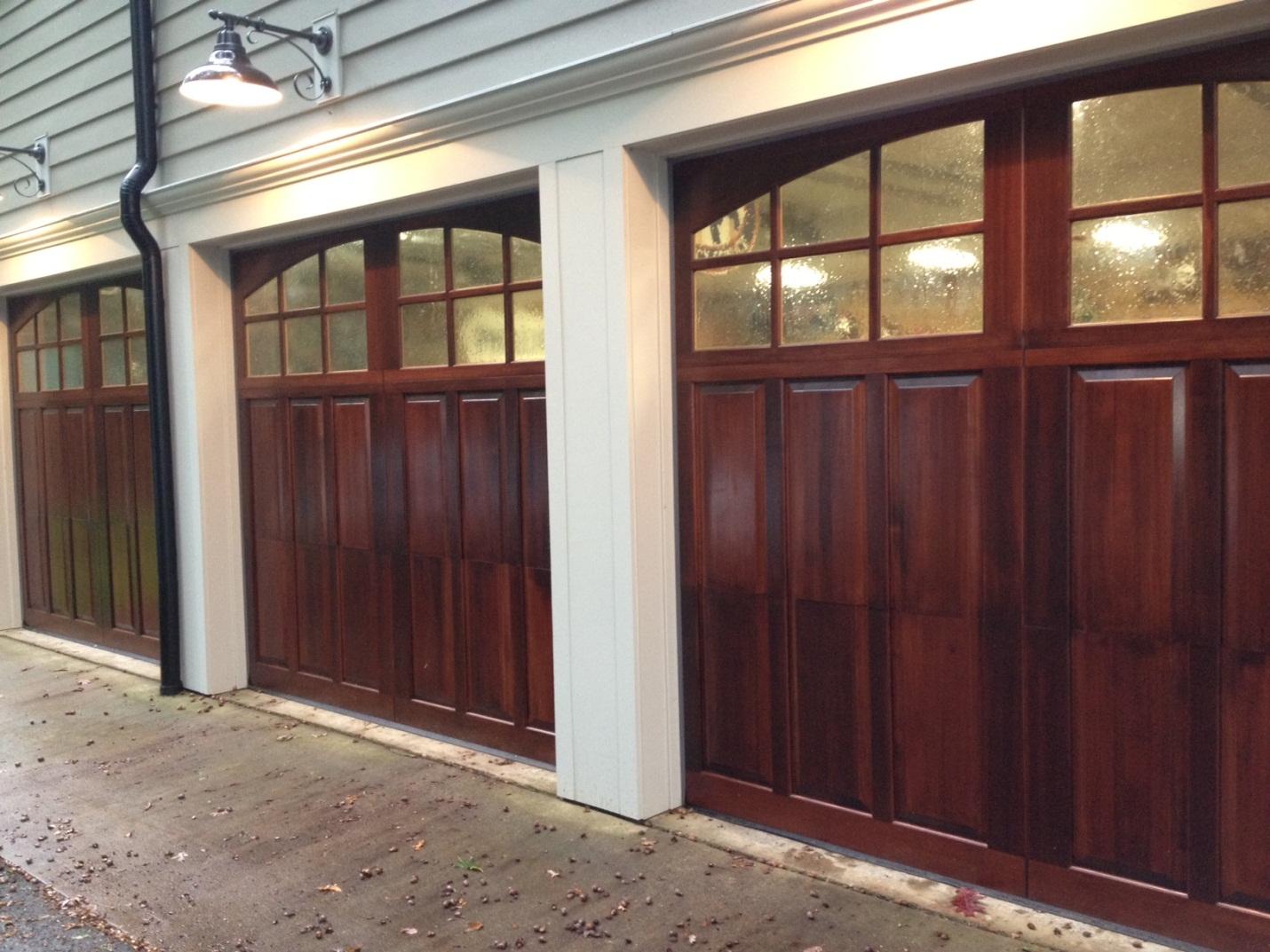 1073 #876B44 Car Garage Door With Hard Wood Plus Windows On Top And  Beautiful Wall