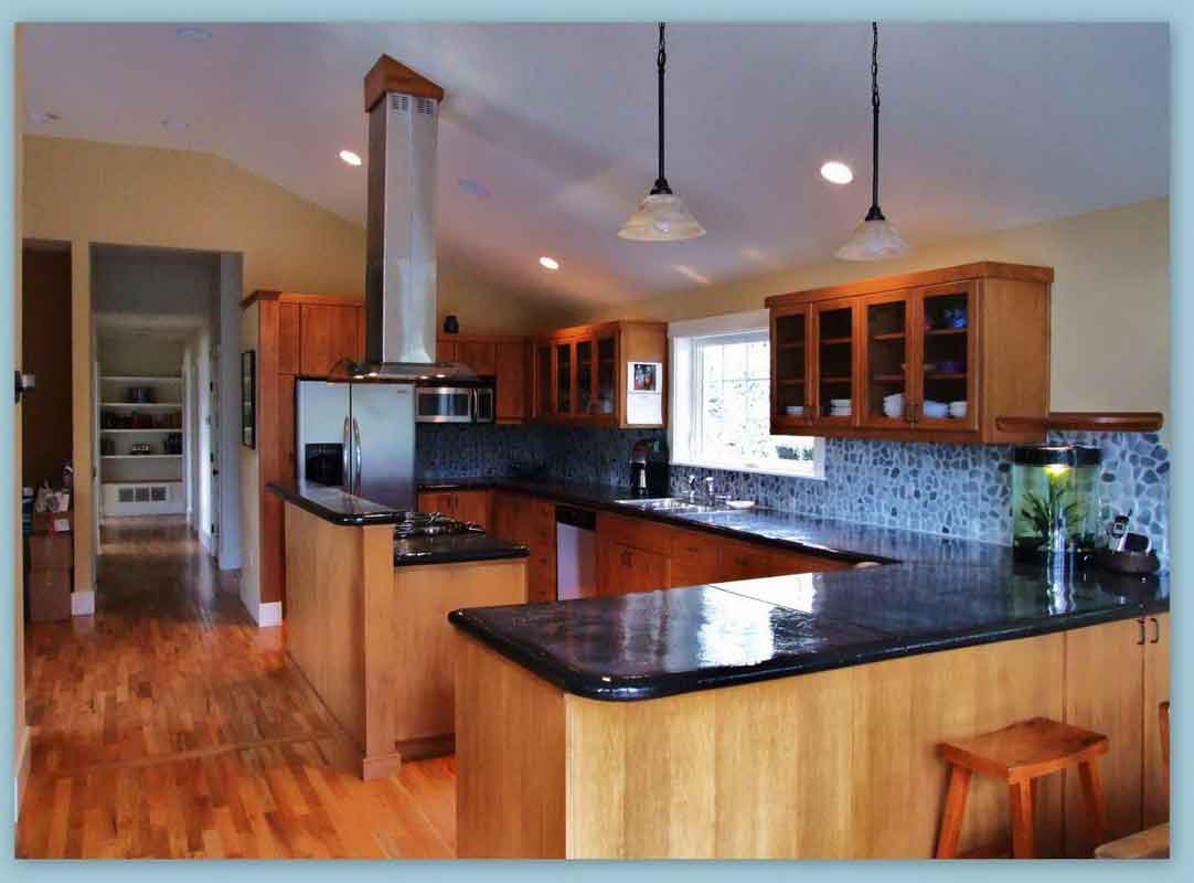Bamboo Island Countertop Bamboo Flooring Style Adds Effortless Dramatic Scent In The
