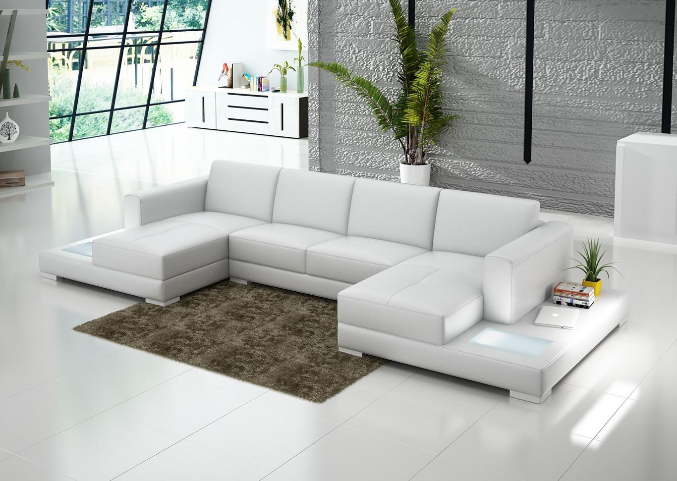 Double Chaise Sectional Double Chaise Sectional For Complete And Perfect Welcoming