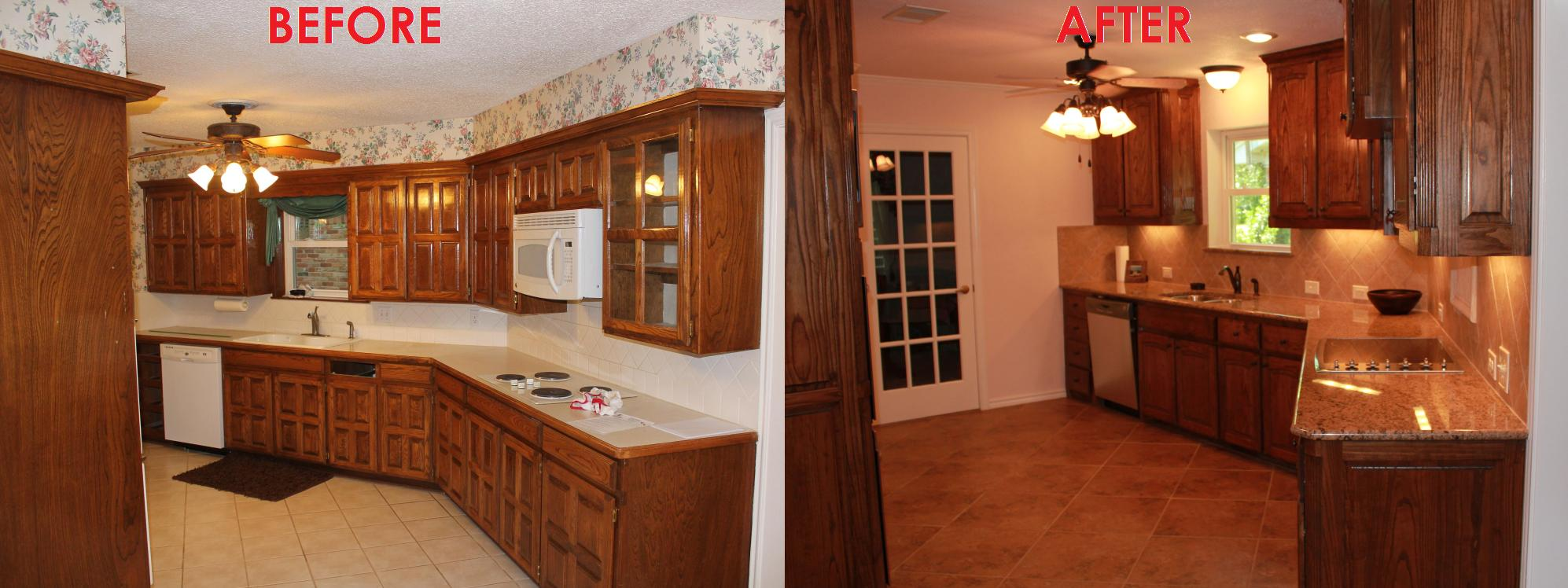 luxury small kitchen remodel before and after with new cabinet outlook and sink plus backsplash together with additional lighting and new floor tile