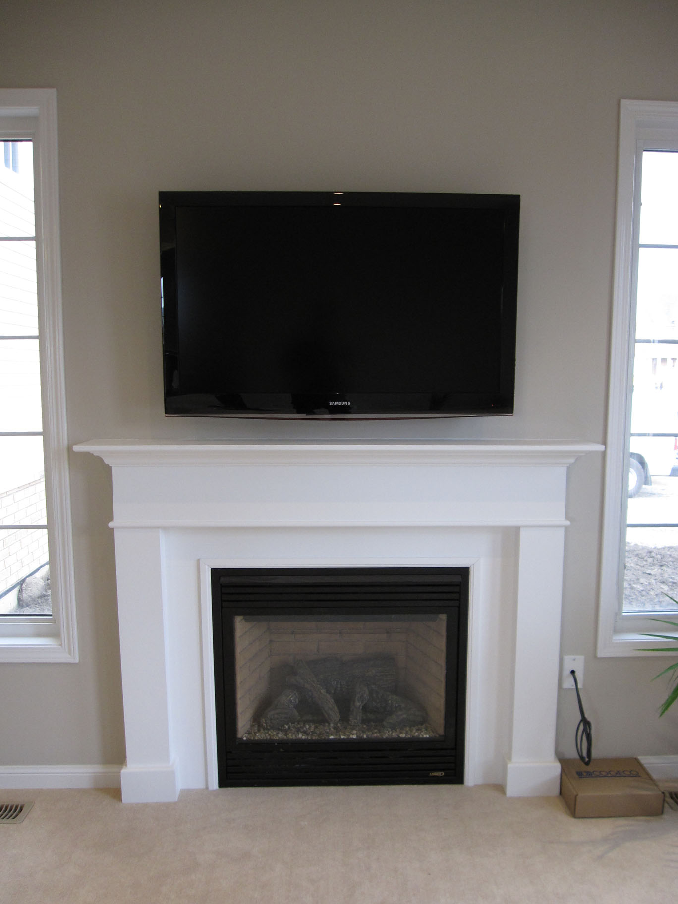 Fireplace Mantel Decor With Tv How To Get The Proper Fireplace Mantel Height For The Sake