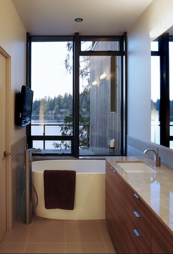 Efficient Bathroom Space Saving with Narrow Bathtubs for Small - narrow bathroom ideas
