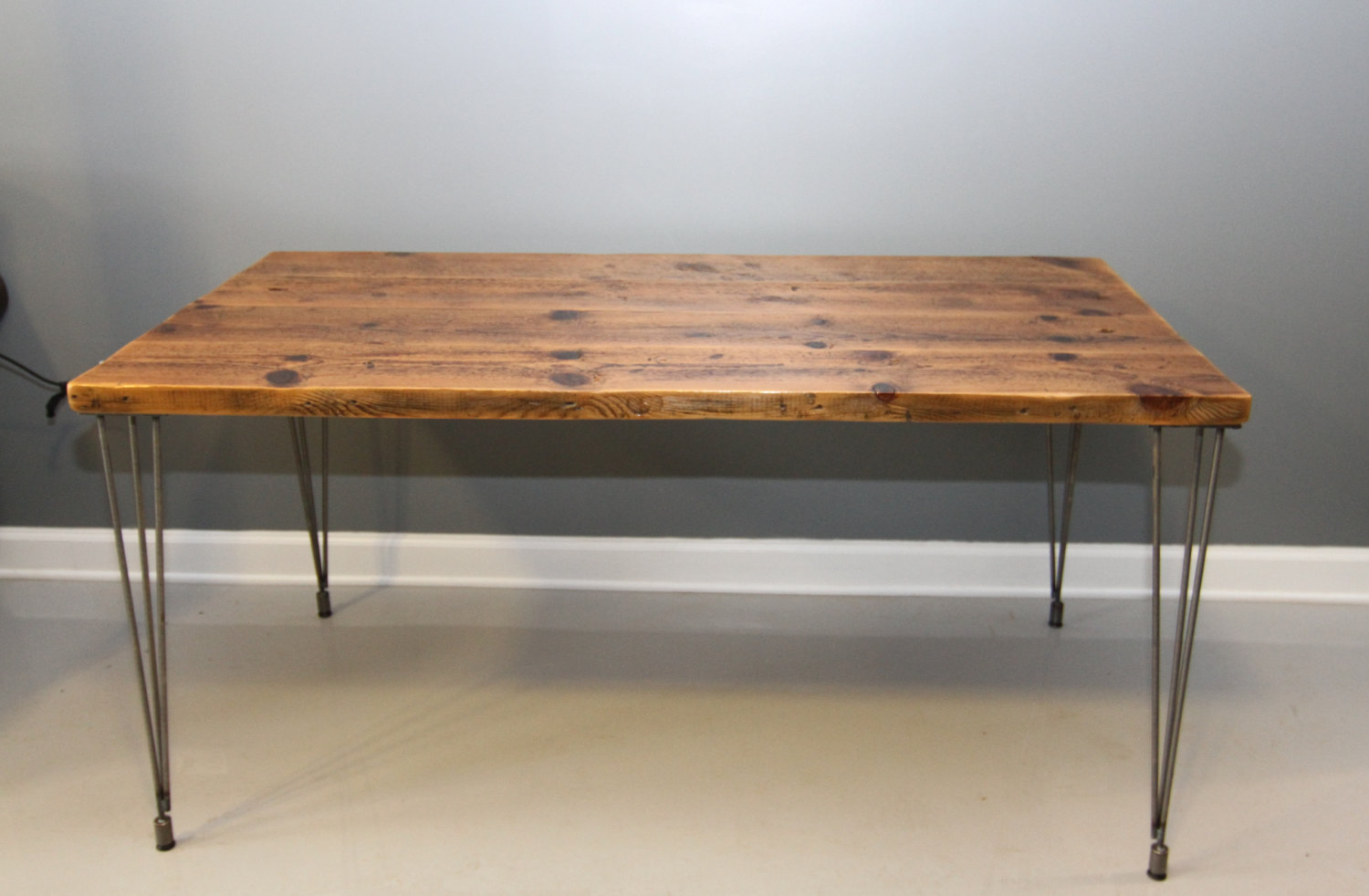 Metal Leg Desk Wood Desk Tops That Present Rustic And Traditional