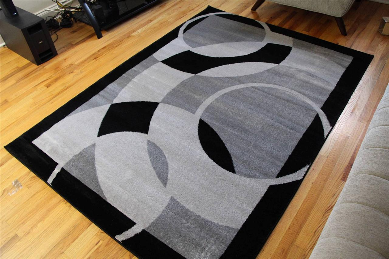Contemporary Area Rugs Black And Gray Area Rugs To Enhance The Beauty Of Your