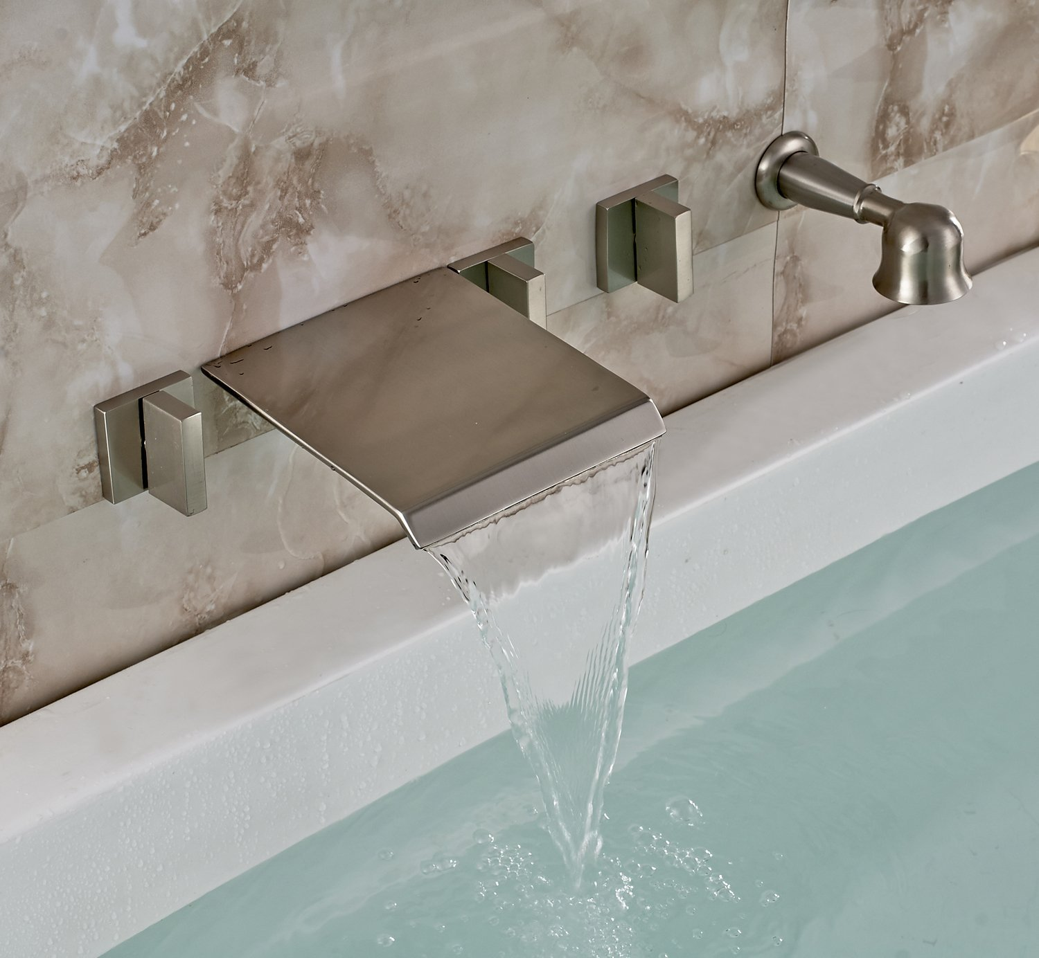Waterfall Style Faucet Waterfall Faucets For Tub That Carry Out The Elegance And