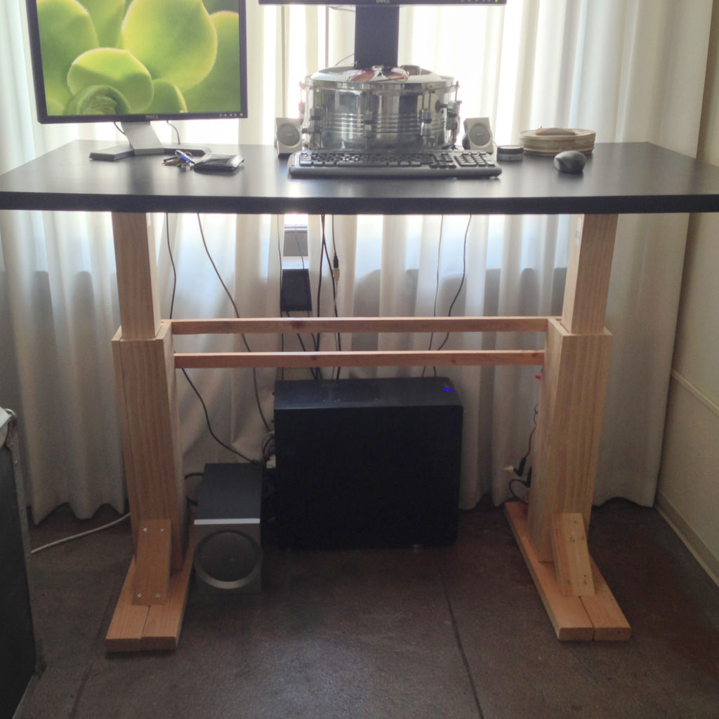 Diy Desktop Standing Desk Homemade Standing Desk Showcases Creative Idea That Helps