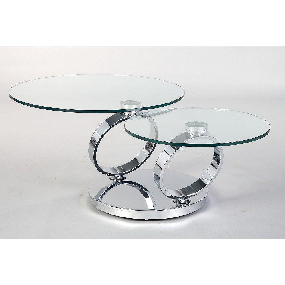Couchtisch Glas Chrom Rund Glass And Metal Coffee Tables | Homesfeed