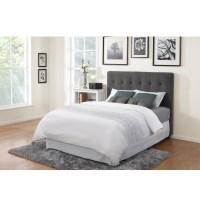 Grey fabric headboard in Wide Options of Design | HomesFeed